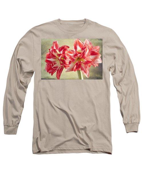 Amaryllis Red Long Sleeve T-Shirt
