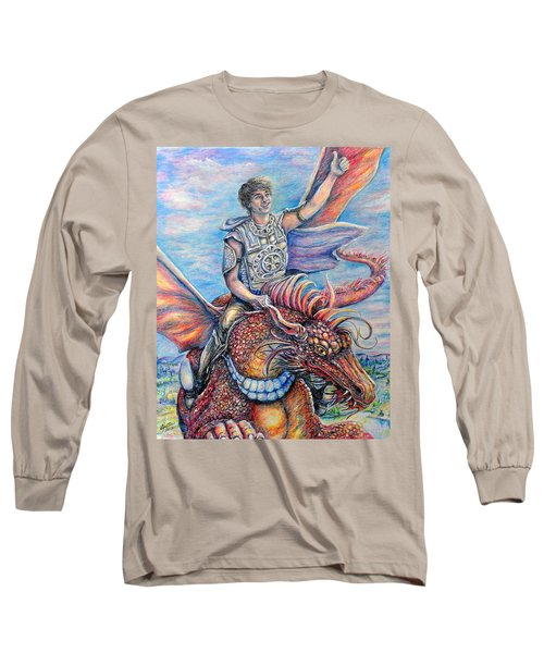 Amazing Rider Long Sleeve T-Shirt by Gail Butler