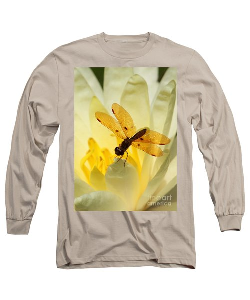 Amber Dragonfly Dancer Long Sleeve T-Shirt