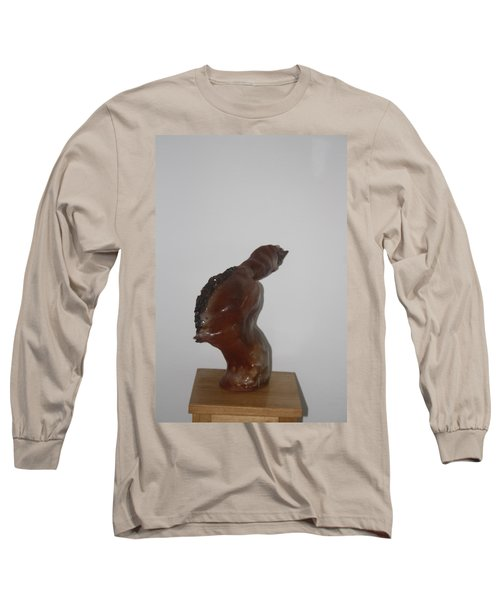 Long Sleeve T-Shirt featuring the sculpture American Athlete...inspiration Gail Devers by Gloria Ssali