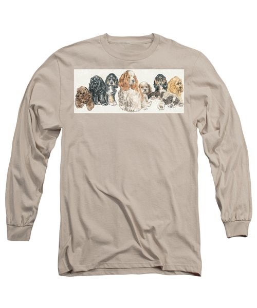 American Cocker Spaniel Puppies Long Sleeve T-Shirt