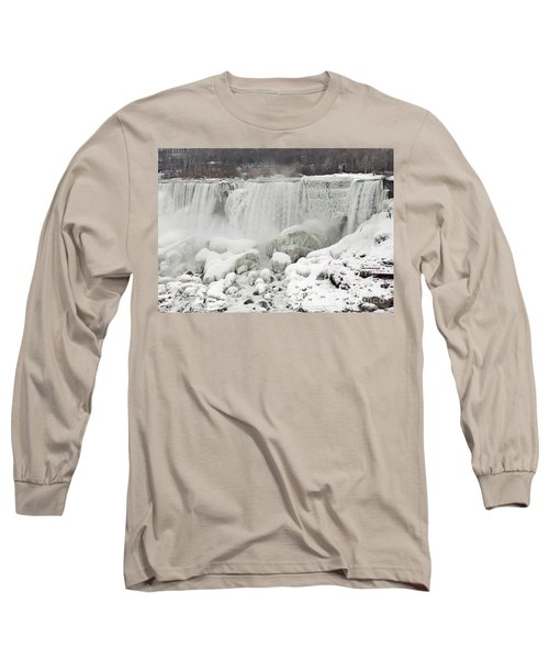 Long Sleeve T-Shirt featuring the photograph American Falls by JT Lewis