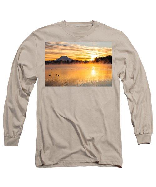 American Lake Misty Sunrise Long Sleeve T-Shirt