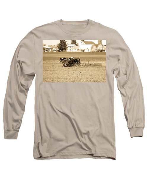 Amish Farm Long Sleeve T-Shirt