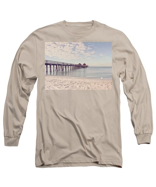 An Early Morning - Naples Pier Long Sleeve T-Shirt