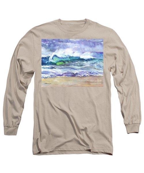 An Ode To The Sea Long Sleeve T-Shirt by Carol Wisniewski
