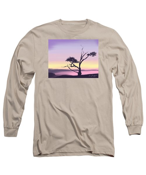Long Sleeve T-Shirt featuring the digital art Anacortes by Terry Frederick