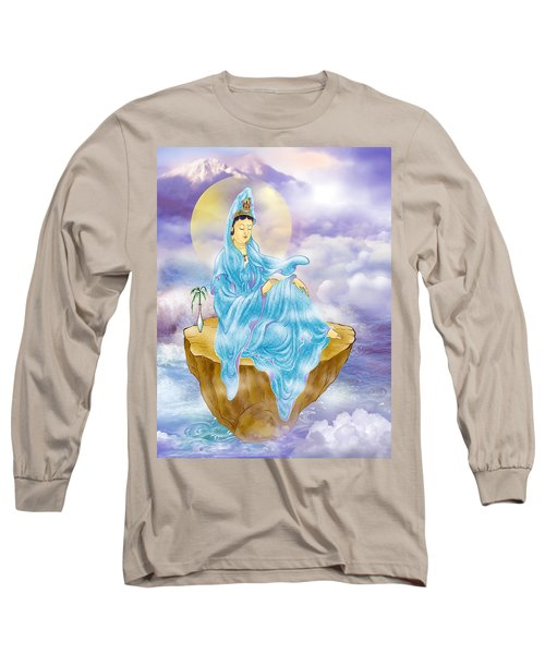 Long Sleeve T-Shirt featuring the photograph Anavatapta Kuan Yin by Lanjee Chee