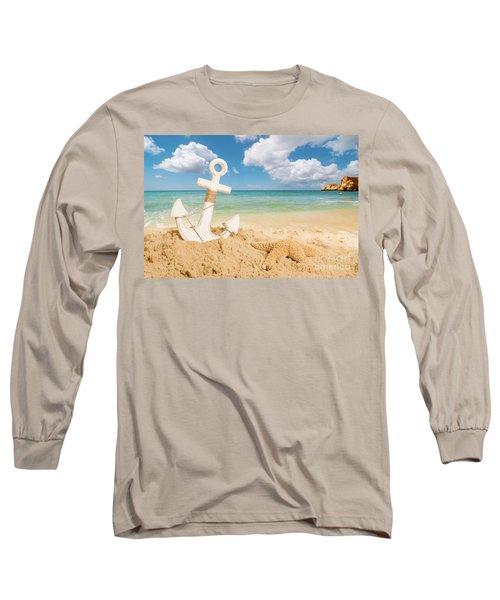 Anchor On The Beach Long Sleeve T-Shirt