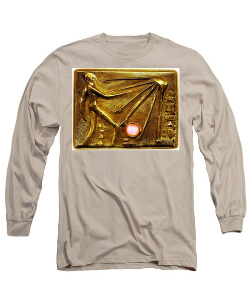 Long Sleeve T-Shirt featuring the relief Sun God Worship  by Hartmut Jager