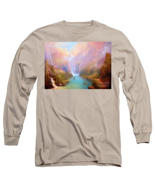 Anduin The Great River Long Sleeve T-Shirt by Joe  Gilronan