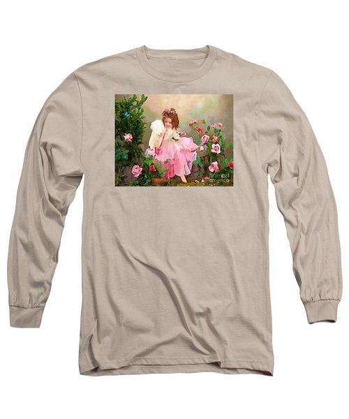 Angel And Baby  Long Sleeve T-Shirt by Catherine Lott
