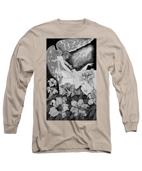 Long Sleeve T-Shirt featuring the digital art Angel Of Death Vision by Carol Jacobs