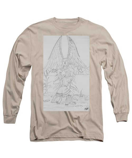 Angel Of God Struggle Long Sleeve T-Shirt by Roberta Byram