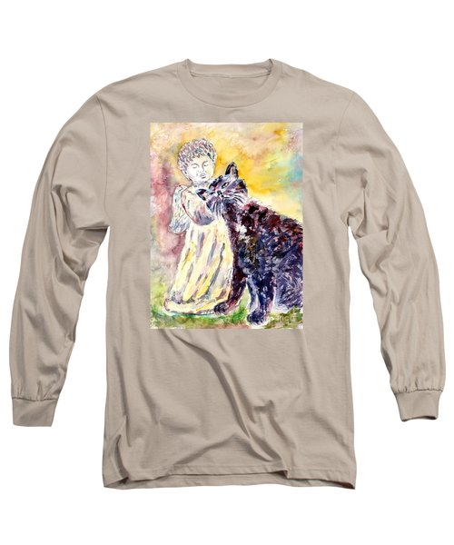 Angel Or Demon Long Sleeve T-Shirt by Alfred Motzer