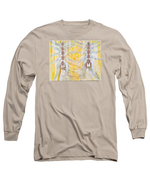 Angel Winds Flames Of Fire Long Sleeve T-Shirt by Cassie Sears