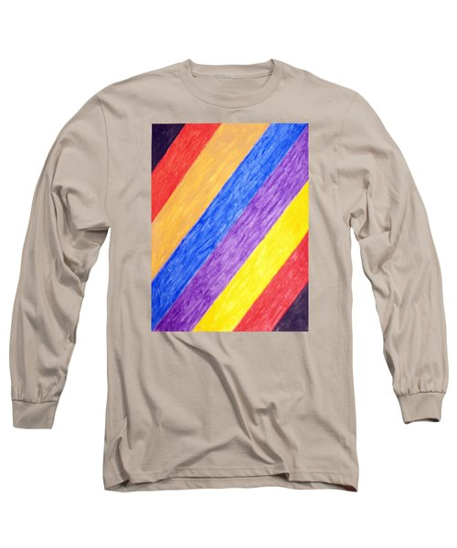 Long Sleeve T-Shirt featuring the painting Angles by Stormm Bradshaw