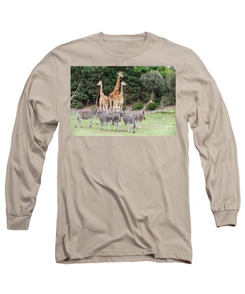 Animal Kingdom I Long Sleeve T-Shirt by Ray Warren