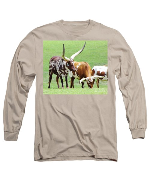 Ankole And Texas Longhorn Cattle Long Sleeve T-Shirt