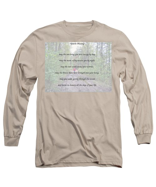 Apache Blessing With Photo Long Sleeve T-Shirt