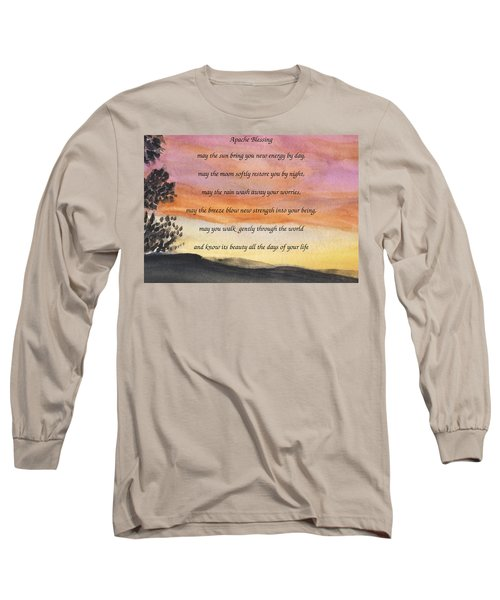 Apache Blessing With Sunset Long Sleeve T-Shirt