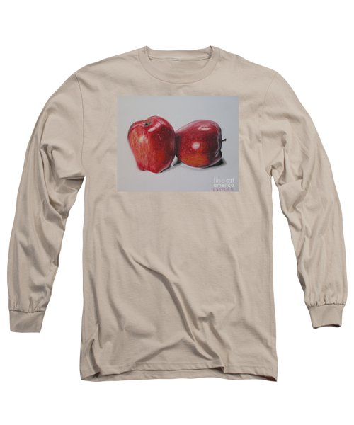Long Sleeve T-Shirt featuring the pastel Apple Study by Wil Golden