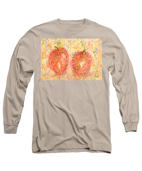 Long Sleeve T-Shirt featuring the painting Apple Twins by Paula Ayers