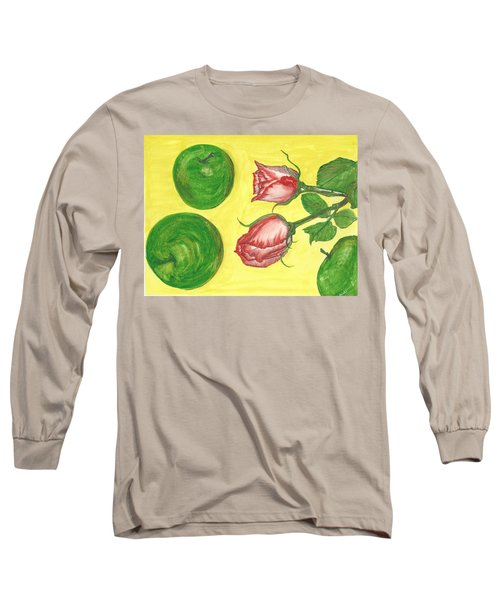 Apples And Roses Long Sleeve T-Shirt