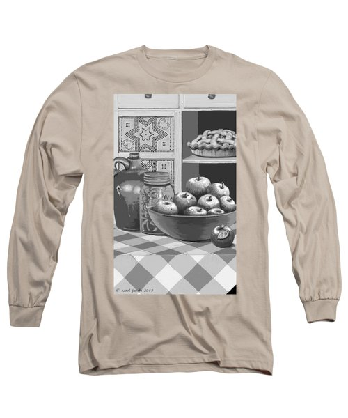 Long Sleeve T-Shirt featuring the digital art Apples Four Ways by Carol Jacobs