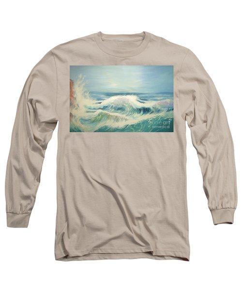 Aqua Sea Scape Long Sleeve T-Shirt