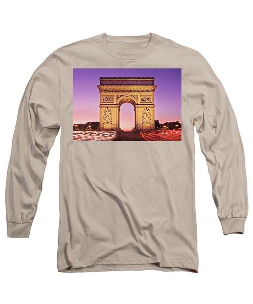 Arc De Triomphe Facade / Paris Long Sleeve T-Shirt
