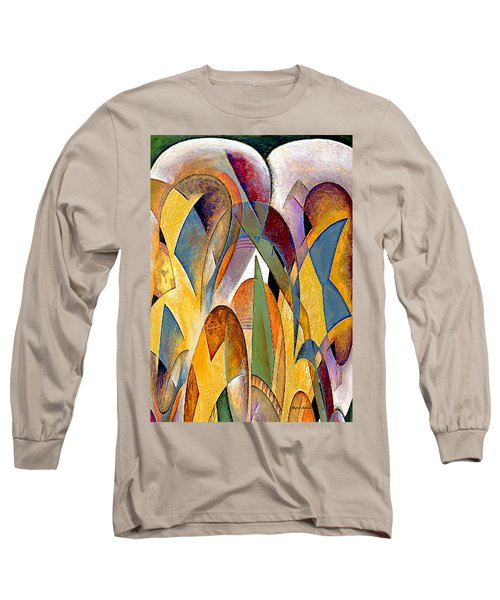 Long Sleeve T-Shirt featuring the mixed media Arches by Rafael Salazar