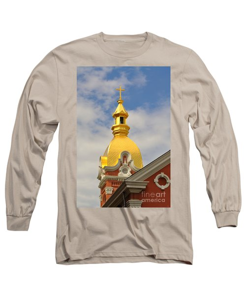 Architecture - Golden Cross Long Sleeve T-Shirt by Liane Wright