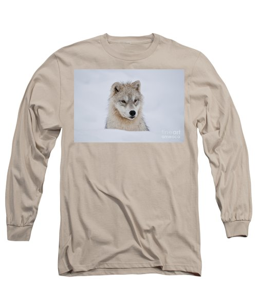 Arctic Pup In Snow Long Sleeve T-Shirt