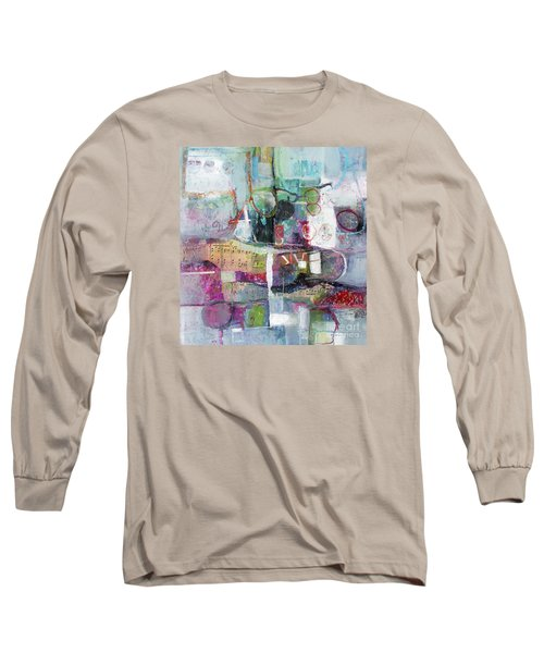 Long Sleeve T-Shirt featuring the painting Art And Music by Michelle Abrams