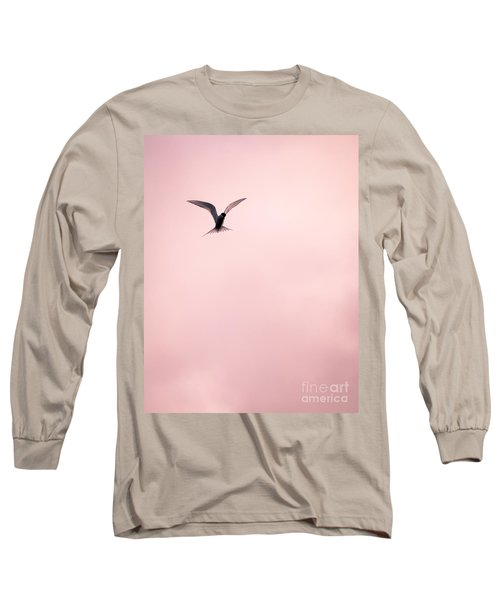 Long Sleeve T-Shirt featuring the photograph Artic Tern High In The Sky by Peta Thames