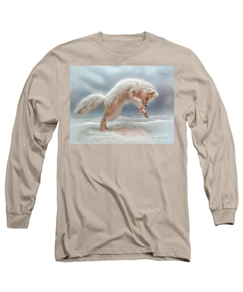 Artic White Wolf Long Sleeve T-Shirt by Joan  Minchak