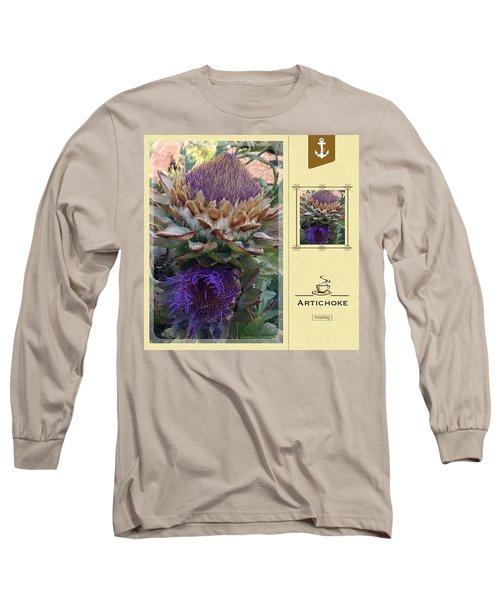 Artichoke In The Herb Garden Long Sleeve T-Shirt