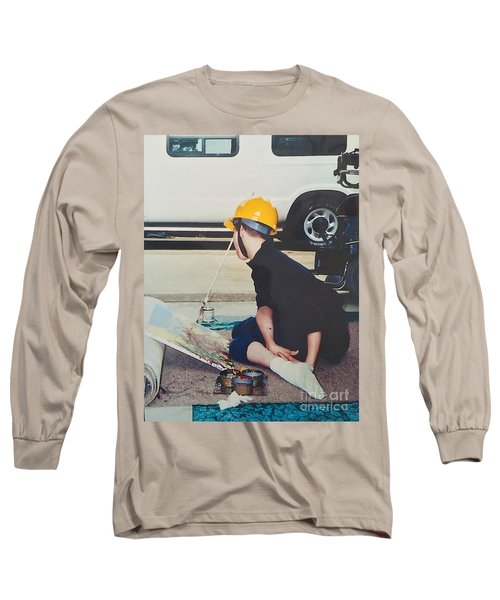 Long Sleeve T-Shirt featuring the painting Artist At 16 Yrs Old by Donald J Ryker III