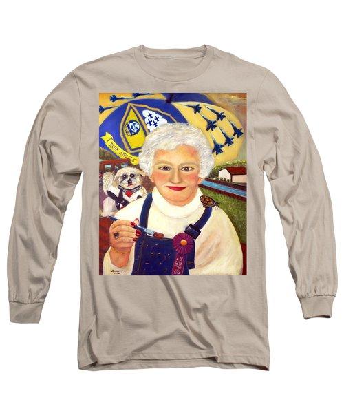 Artist At Work Portrait Of Mary Krupa Long Sleeve T-Shirt by Bernadette Krupa