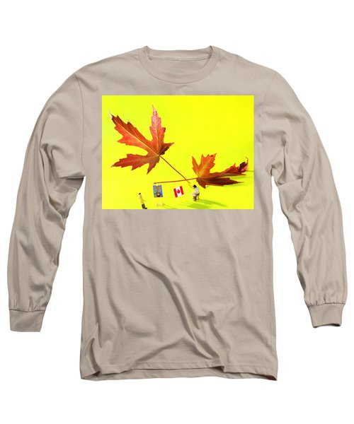 Artist De Imagination Little People Big Worlds Long Sleeve T-Shirt by Paul Ge