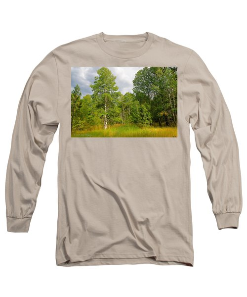 Long Sleeve T-Shirt featuring the photograph Aspen And Others by Jim Thompson