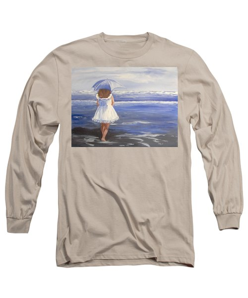 At The Beach Long Sleeve T-Shirt by Catherine Swerediuk