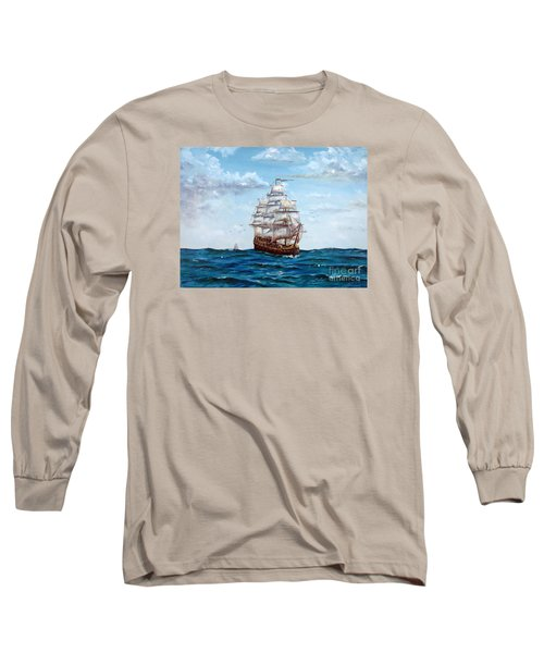 Long Sleeve T-Shirt featuring the painting Atlantic Crossing  by Lee Piper
