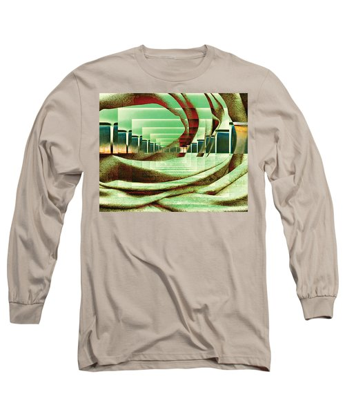 Long Sleeve T-Shirt featuring the digital art Atrium by Paula Ayers