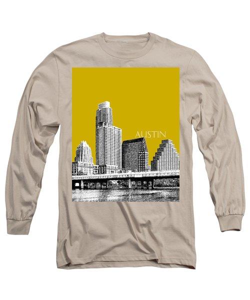 Austin Texas Skyline - Gold Long Sleeve T-Shirt