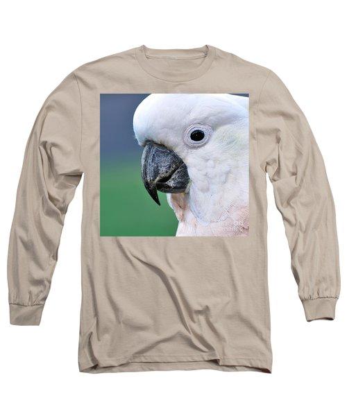 Australian Birds - Cockatoo Up Close Long Sleeve T-Shirt by Kaye Menner