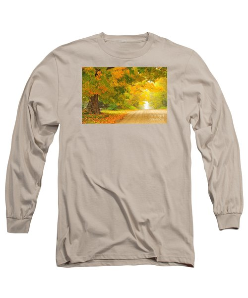 Autumn Cascade Long Sleeve T-Shirt by Terri Gostola