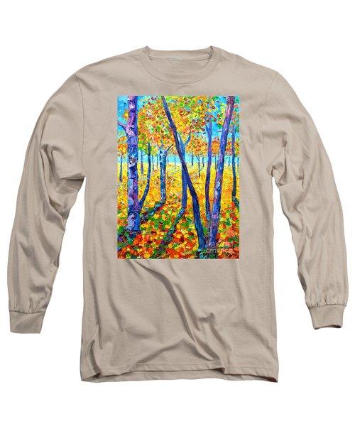 Autumn Colors Long Sleeve T-Shirt by Ana Maria Edulescu