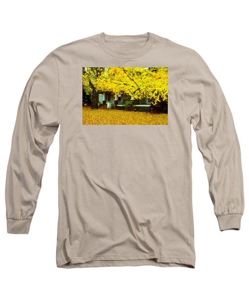 Long Sleeve T-Shirt featuring the photograph Autumn Homestead by Rodney Lee Williams